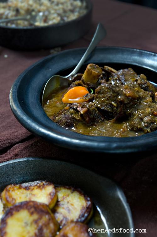 Jamaican goat, curry de chèvre à la jamaicaine
