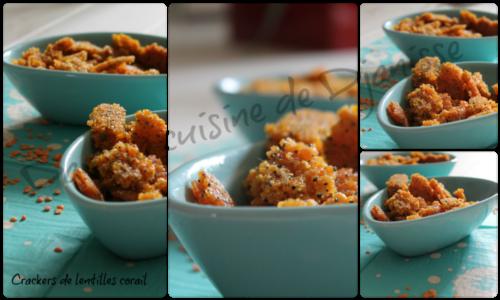 crackers de lentilles corail
