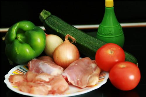ingrédient poulet épicé
