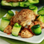 poulet pic tagliatelles courgettes
