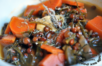 soupe de lentilles, carottes, fenouil et céleri