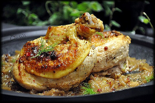 supreme de poulet fenouil confit