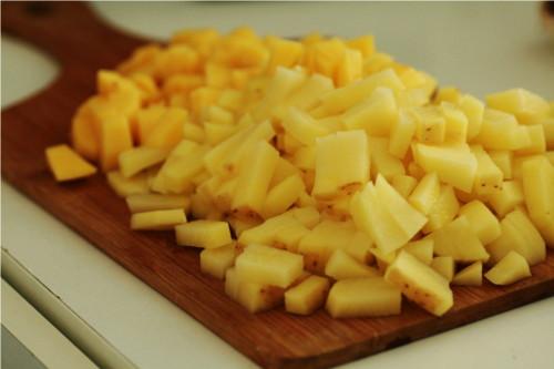 pomme de terre coupées