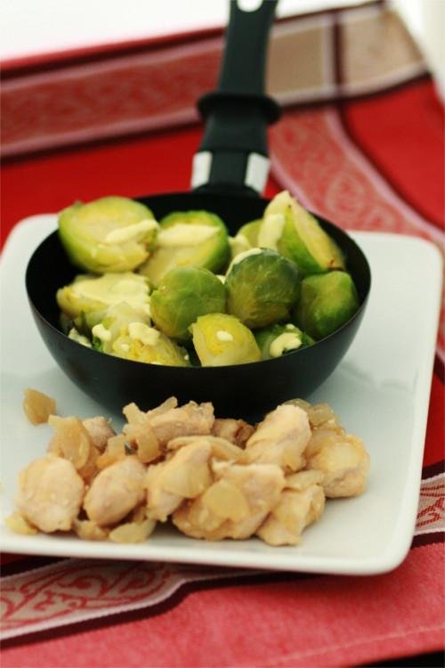 gratin chou bruxelle et poulet recette zone