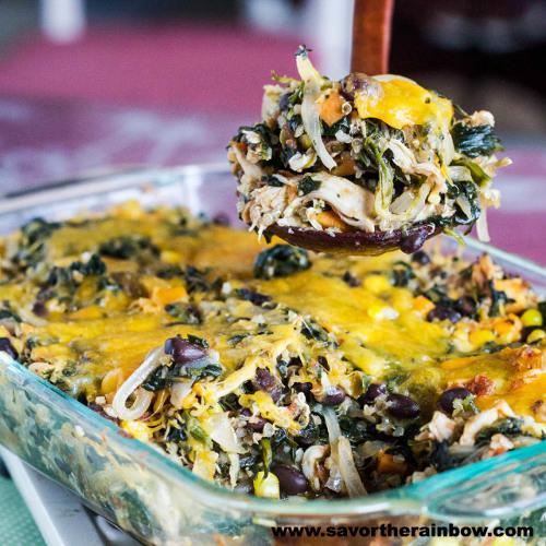 poulet mexicain quinoa épinards