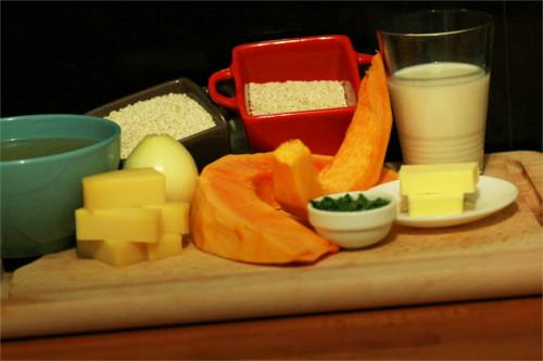 ingrédients risotto potiron comté végétarien