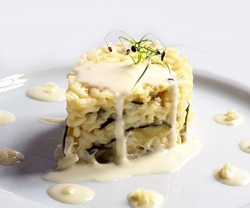 risotto courgettes crème d'ail