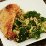 gratin brocoli quinoa the zone