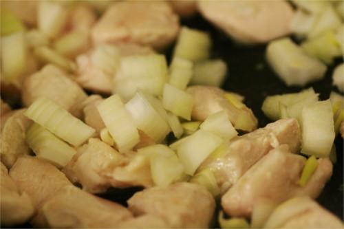 oignon et poulet