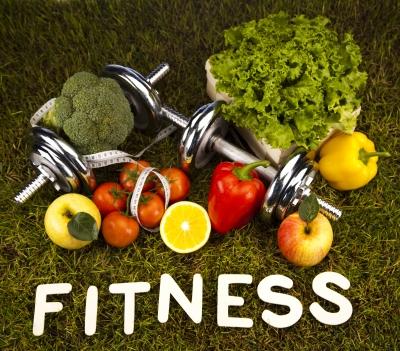 fitness et fruits et légumes