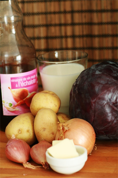 purée de chou rouge ingrédients