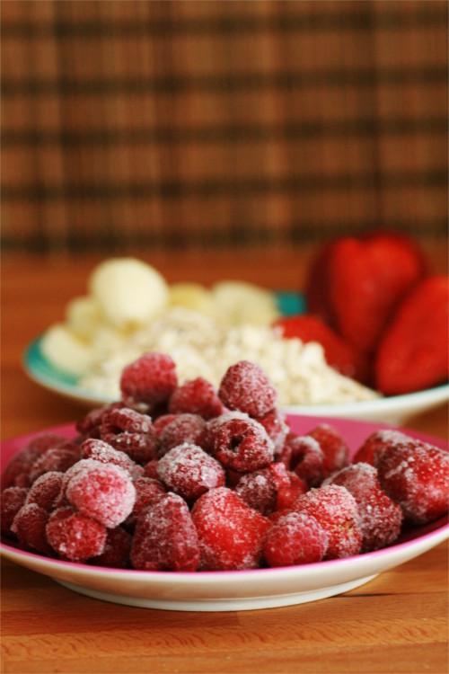 ingrédients smoothie fraises