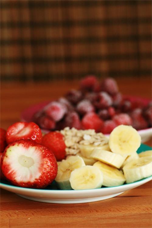 ingrédients smoothie fraise