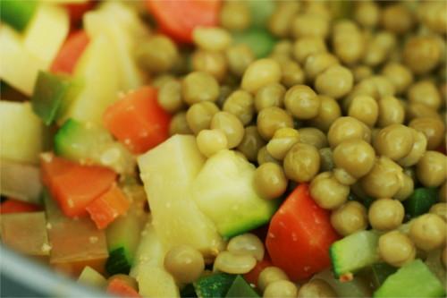 légumes tortilla
