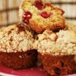 muffins framboise crumble