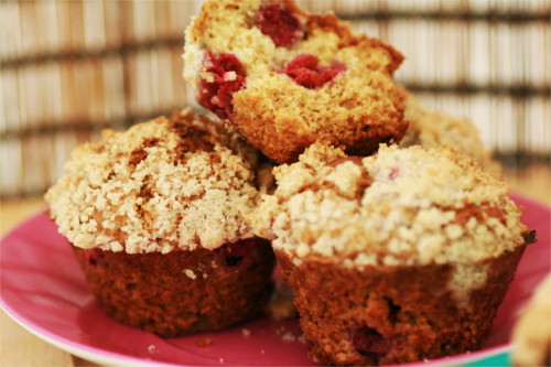 muffins framboise crumble