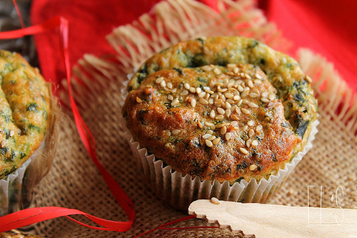 muffins épinards parmesan