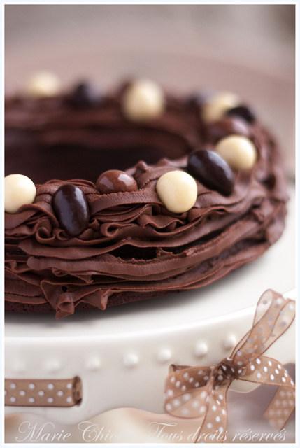 nid de paques au chocolat fondant
