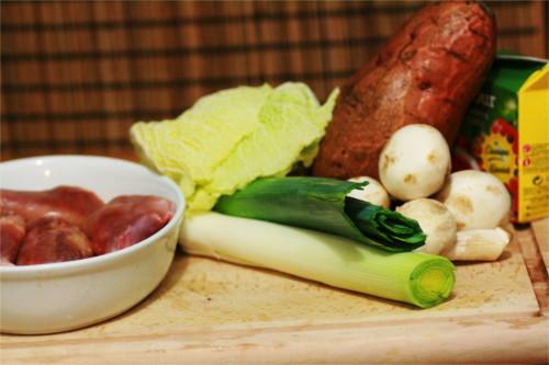 poelee légumes paléo ingrédients