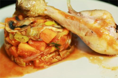 poelee de légumes poulet paléo