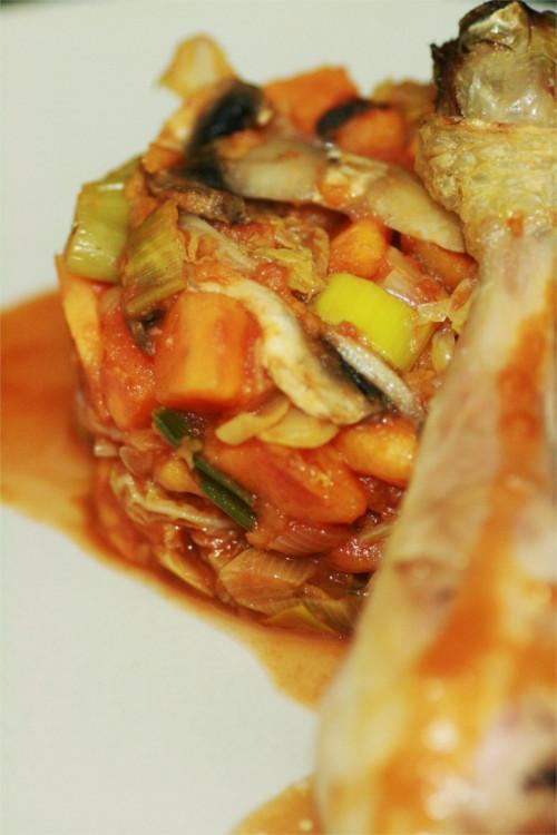 poelee de légumes paléo cuisse de poulet