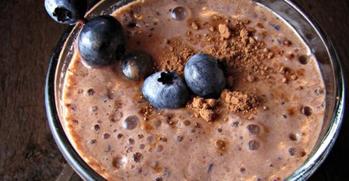 Milkshake chocolat myrtilles