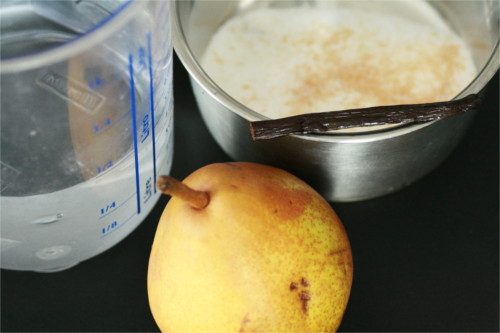 ingrédients poire vanillée