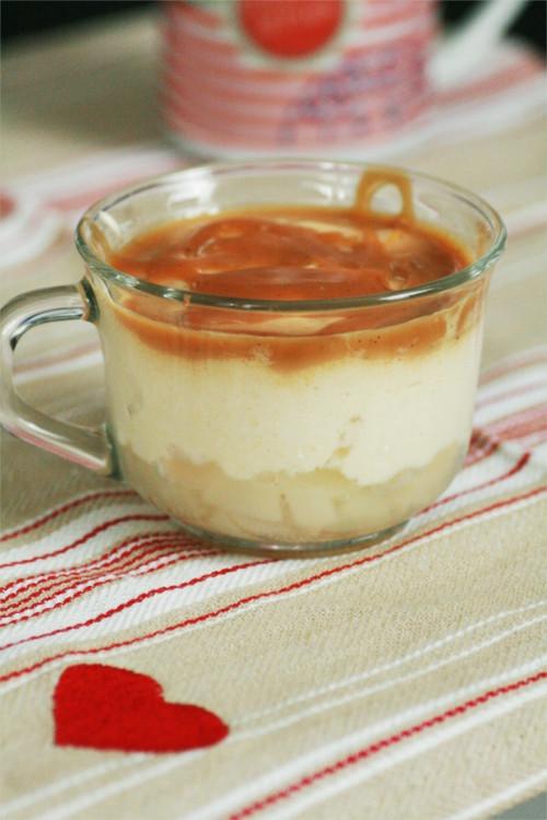 bavaroise poire et caramel salé