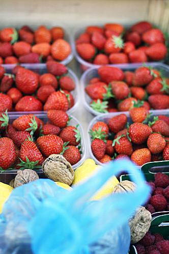 fruits achetés marché