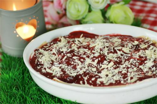 lasagnes sucrées aux fraises et brownie