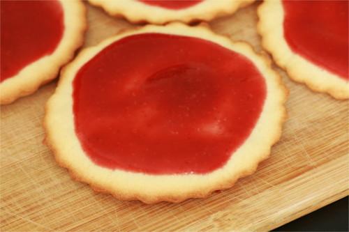 pizza et soupe de fraises