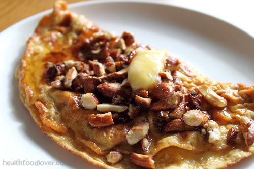 omelette sucrée aux noix