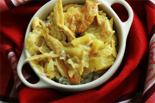 curry de poulet aux pommes