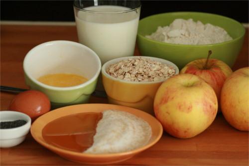 muffins pavot et pomme ingrédients