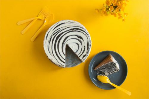 zebra cheesecake