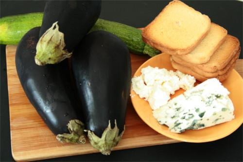 ingrédients aubergines farcies