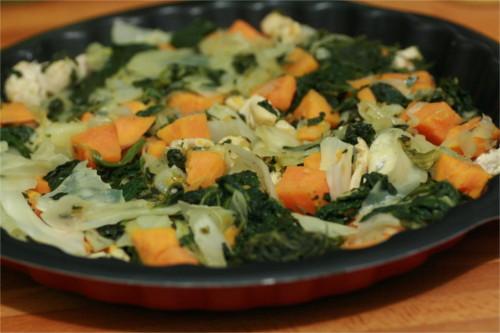 poêlée de légumes dans un plat