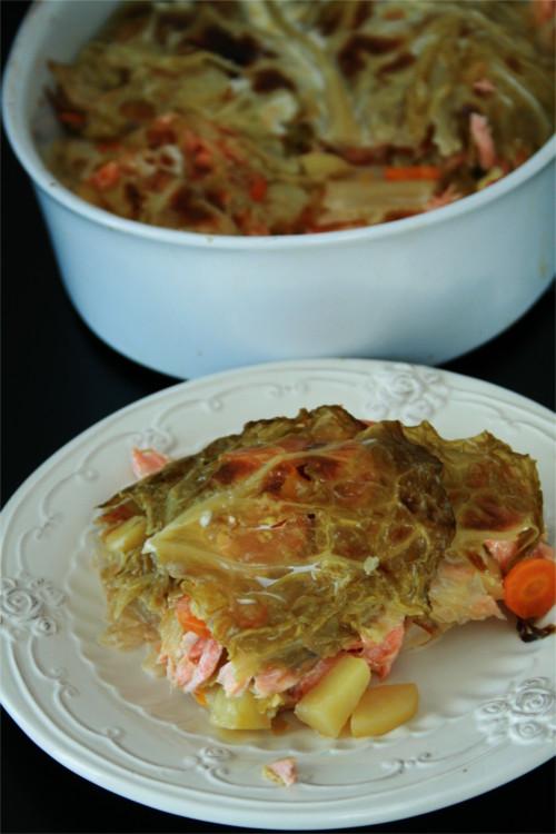 lasagne de chou au saumon
