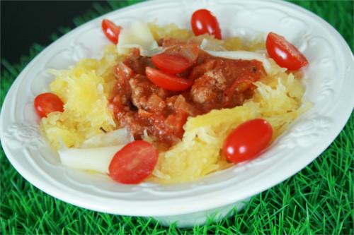 courge spaghettis bolognaise paléo