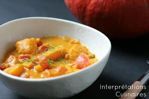 potimarron et cacahuète en curry
