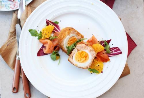 scotch eggs saumon fumé