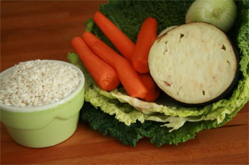 ingrédients risotto légumes d'automne