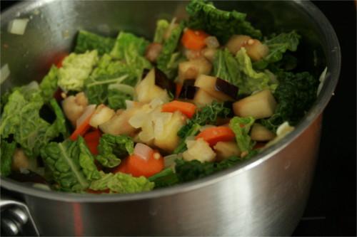 légumes cuits pour risotto