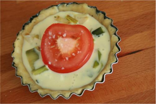 tarte poireau et tomate
