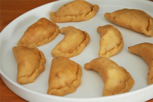 empanadas poivrons oignons avant cuisson