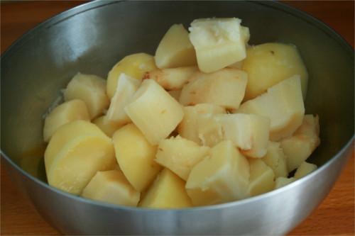panais et pommes de terre cuits