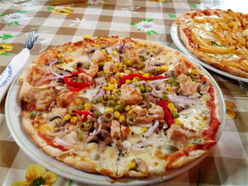 pizza légumes à malte