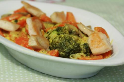 poulet carotte brocoli en cocotte