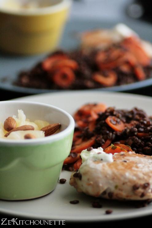 lentilles et carottes mchermla