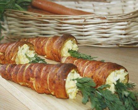 carottes en pâte feuilletée